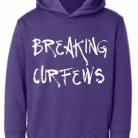 Breaking Curfews Purple Kids Hoodie
