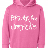 Breaking Curfews Raspberry Kids Hoodie