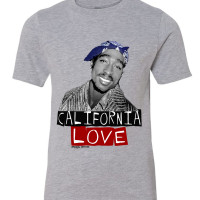 California Love Tupac Youth Hip Hop T-Shirt athletic heather