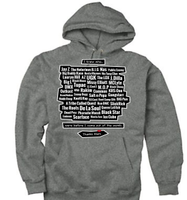 Charcoal Heather Legends of the Womb Thanks Mom Youth Hoodie