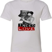 I Need Love Youth T-Shirt Athletic Heather Grey