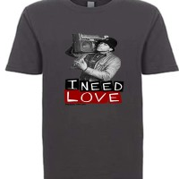I Need Love Youth T-Shirt  Charcoal Grey