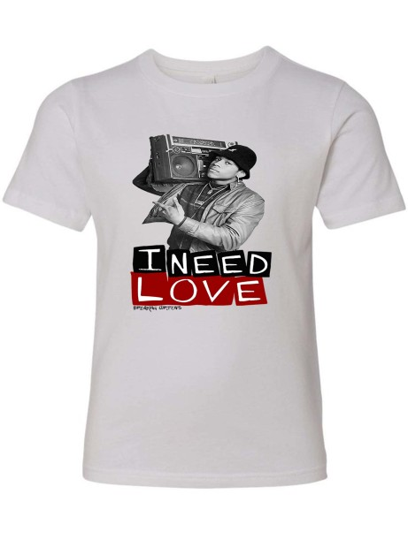 I Need Love Youth T-Shirt White
