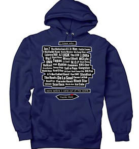 Navy Legends of the Womb Thanks Mom Youth Hoodie