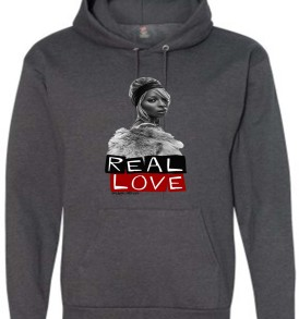 Real Love Unisex Adult  Hoodies Deep Charcoal Heather