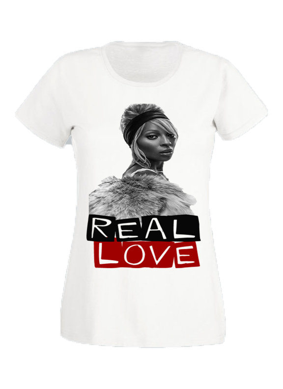 Real Love - White Boyfriend Tee