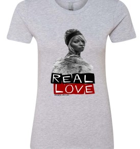 Real Love Womens BF Tee Athletic Heather