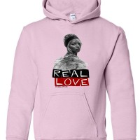 Real Love Youth  Hoodies Light Pink