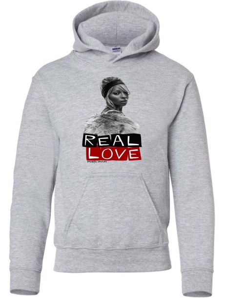 Real Love Youth  Hoodies Sports Grey
