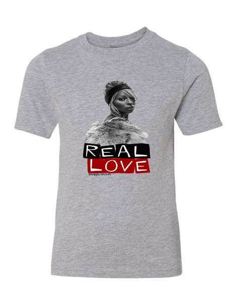 Real Love Youth T-Shirt  Athletic Grey