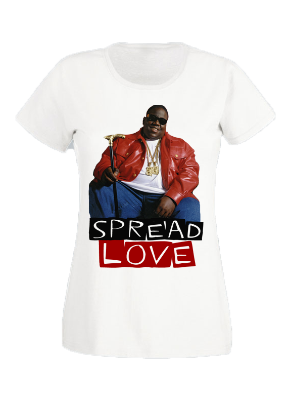 Spread Love - White Boyfriend Tee