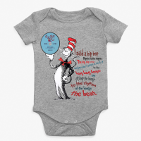 Sugarhill Seuss Rappers Delight Athletic Heather Baby Onesie