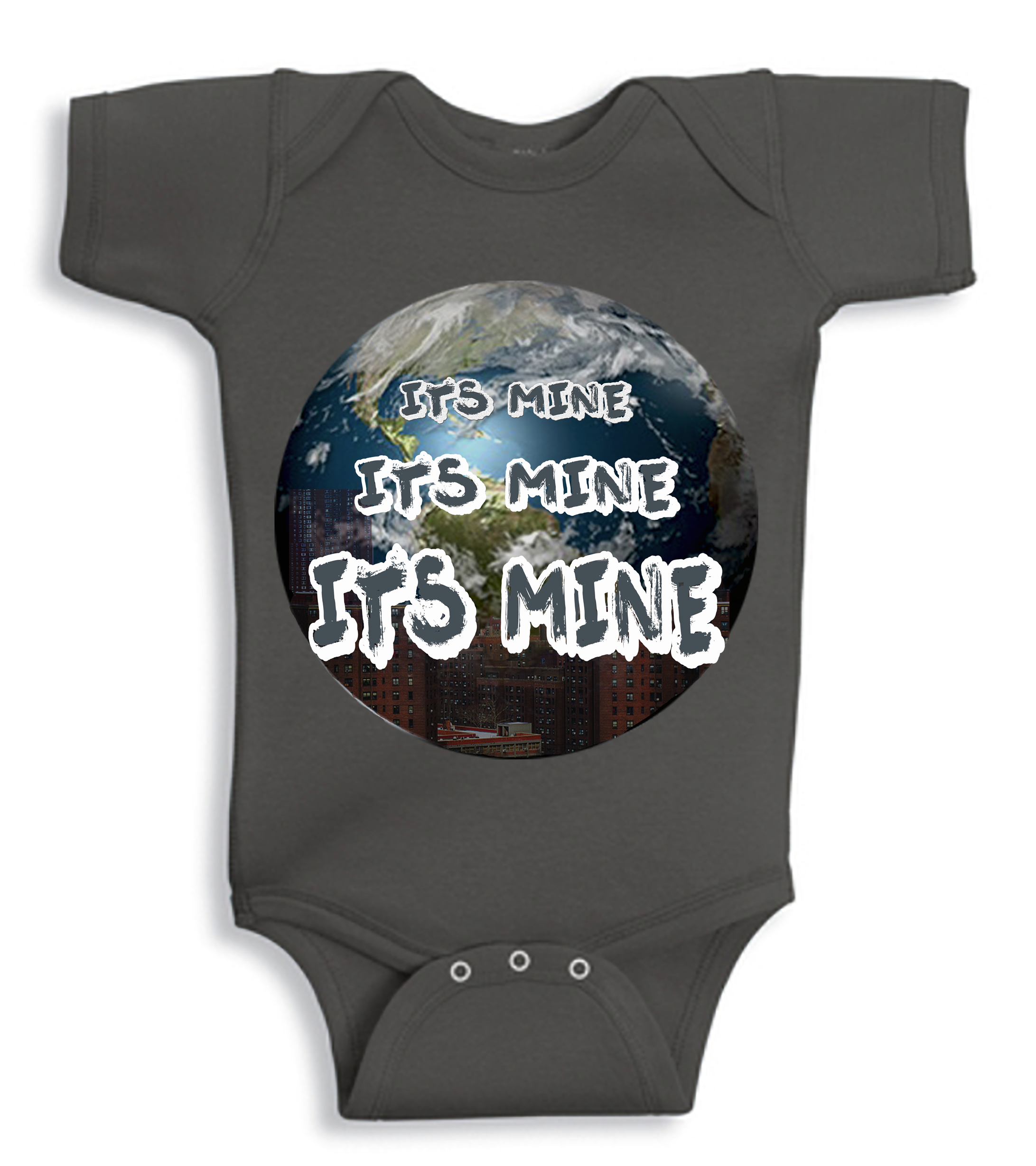 It's Mine Charcoal Baby Onesie