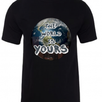 The World is Yours Black Mens Tshirt
