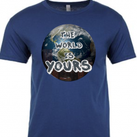 The World is Yours Cool Blue Mens T-Shirt