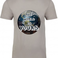 The World is Yours Light Grey Mens T-Shirt