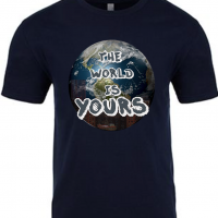 The World is Yours Navy Mens T-Shirt