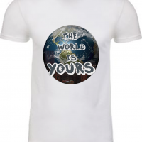 The World is Yours White Mens Tshirt