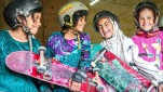 Many girls in Afghanistan are forbidden to ride bicycles, but no one said anything about skateboards.