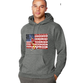 In Solidarity with Colin Kaepernick Heather Gray Adult Hoodie