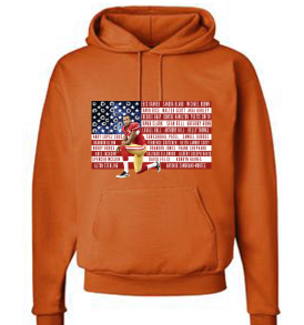 Orange In Solidarity with Colin Kaepernick Adult Hoodie