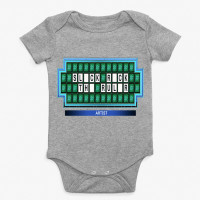 Athletic Heather Slick Rick The Ruler Baby Onesie
