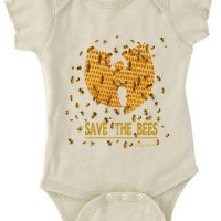 Save The Bees Baby Onesie Natural Cream