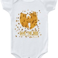 Save The Bees Baby Onesie White