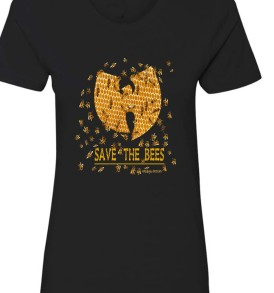 Save The Bees Womens BF Tee Shirt Black
