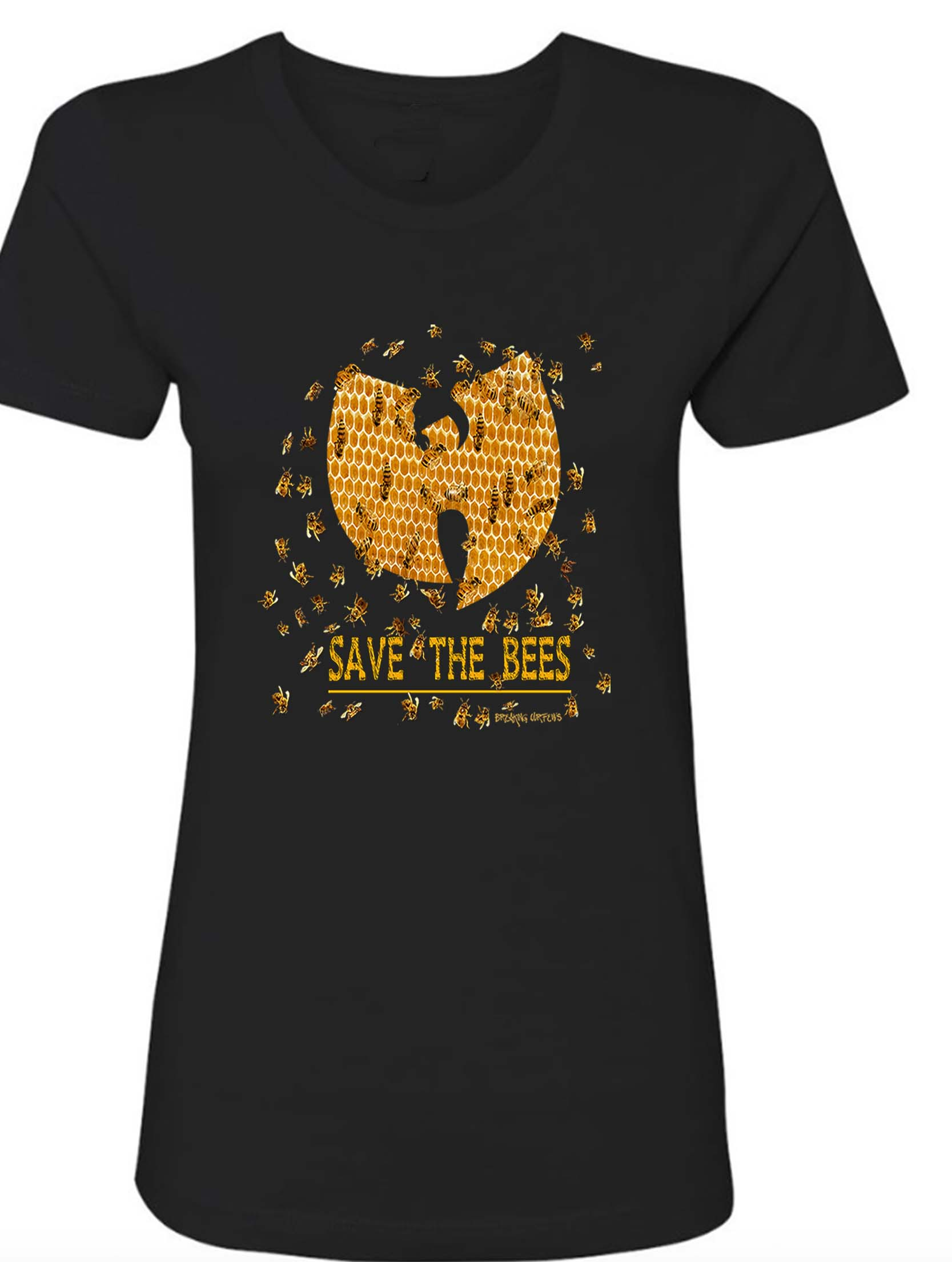 d331dcacfe0f06 Breaking Curfews » Save The Bees Wu Tang Clan Women s BF T-Shirt