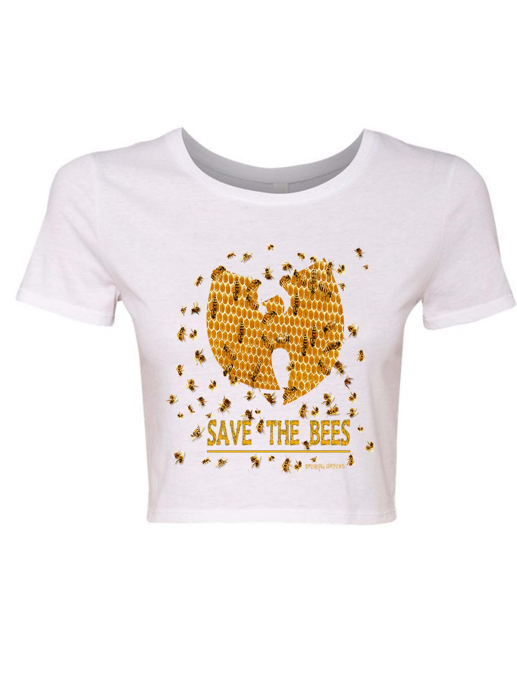 8dd6d80ac4f818 Breaking Curfews » Wu Tang Clan Save The Bees Womens Hip Hop Crop T ...