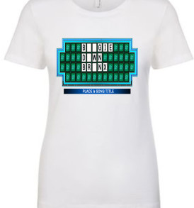 White Boogie Down Bronx Game Show Board Womens T-shirt
