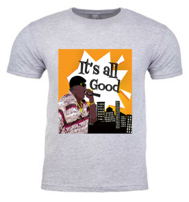 Athletic Heather It's All Good Notorious BIG Mens T-Shirt
