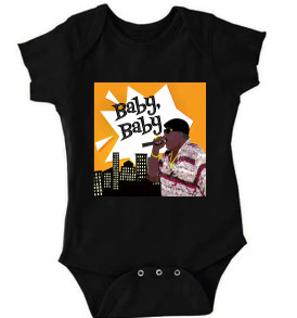 Black Notorious BIG Baby Onesie