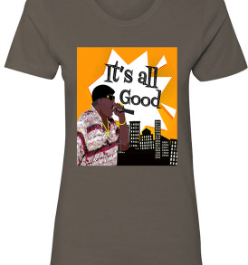 Charcoal Notorious BIG It's All Good Womens T-shirt