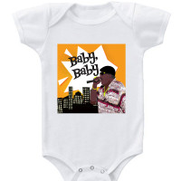 White Notorious BIG Baby Onesie
