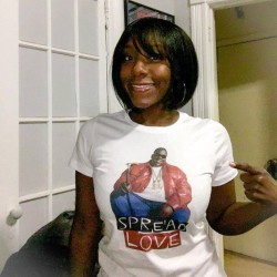 Terri in her Spread Love T-Shirt