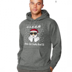 Athletic Charcoal Christmas Rules Everything Around Me C.R.E.A.M Wu Tang Christmas Hoodie
