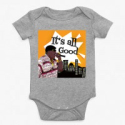 Athletic Heather Notorious BIG Baby Onesie
