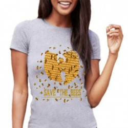 Athletic Heather Womens Save The Bees Wu Tang Clan BF T-Shirt