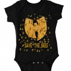 Black Save the Bees Wu-Tang Clan Baby Onesie