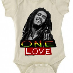 Bob Marley One Love Baby Onesie natural