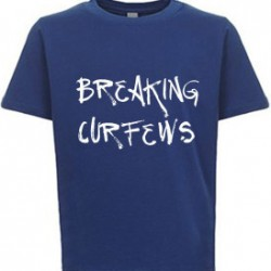 Breaking Curfews Kids T-Shirt Royal Blue