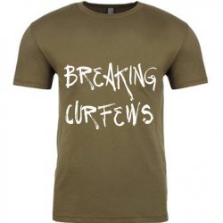 Breaking Curfews Military Green Mens T-Shirt