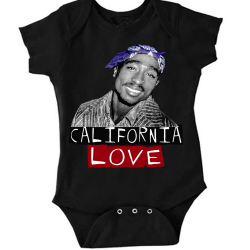 California Love Black Baby Onesie