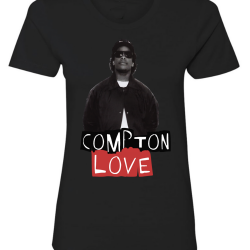 Compton Love Black Womens T-Shirt
