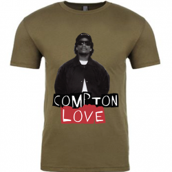 Compton Love Military Green Mens T-Shirt (1)