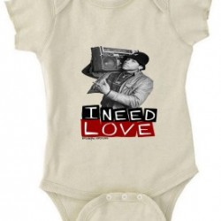 I Need Love Baby Onesie Natural