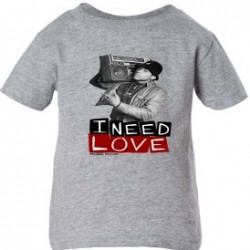 I Need Love KidsT-Shirt  Athletic Grey
