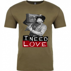 I Need Love Military Green Mens T-Shirt